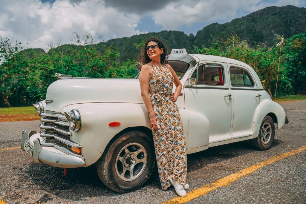 Küba'da amerikan arabalar